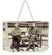 Sitting Next To A Statue Of Jan Karski Legendary Polish Underground Courier    Weekender Tote Bag