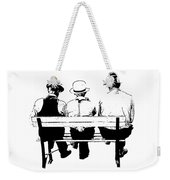 Sitting On A Park Bench Weekender Tote Bag