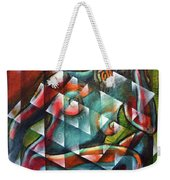 Sitting Woman Fixed In Motion Weekender Tote Bag