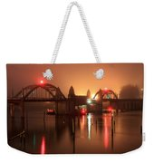Siuslaw River Bridge At Night Weekender Tote Bag