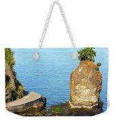 Siwash Rock By Stanley Park Seawall Weekender Tote Bag