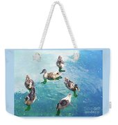 Six Ducks Swim Together Weekender Tote Bag
