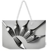 Six Forks Abstract Composition Weekender Tote Bag