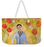 Six Of Pentacles Illustrated Weekender Tote Bag