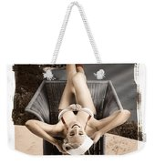 Sixties Classic Pin-up Beauty In Vintage Fashion Weekender Tote Bag by Jorgo Photography - Wall Art Gallery