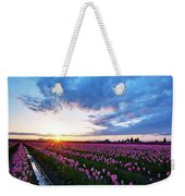 Skagit Floral Sunset Weekender Tote Bag