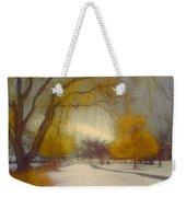 Skaha Path In Winter Weekender Tote Bag