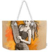 Skateboard Pin-up Illustration Weekender Tote Bag