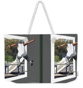 Skateboarder - Gently Cross Your Eyes And Focus On The Middle Image Weekender Tote Bag