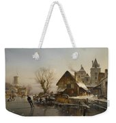 Skaters On The Canal Weekender Tote Bag