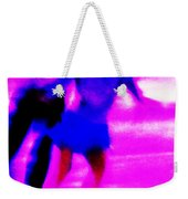 Skating Couple Abstract Weekender Tote Bag