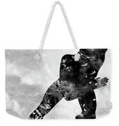 Skating Man-black Weekender Tote Bag