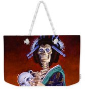 Skeletal Geisha With Mask Weekender Tote Bag