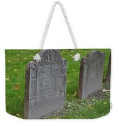 Skeleton Tombstone 1600s Weekender Tote Bag