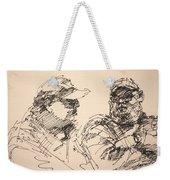 Sketch Men At Tims Weekender Tote Bag