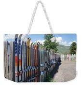 Ski Fence Weekender Tote Bag