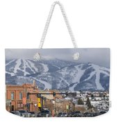 Ski Resort And Downtown Steamboat Weekender Tote Bag