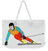 Skier Weekender Tote Bag