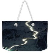 Skiers Bearing Torches Ski Down Mont Weekender Tote Bag
