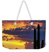 Skies Aglow In Arizona  Weekender Tote Bag