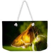 Skipper Butterfly Basking In Sun Weekender Tote Bag