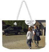 Skirting Around The Issue Weekender Tote Bag