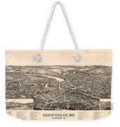 Skowhegan Maine 1892 Weekender Tote Bag