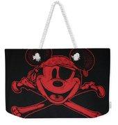 Skull And Bones Mickey In Red Weekender Tote Bag