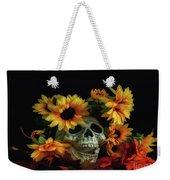 Skull And Flowers Weekender Tote Bag