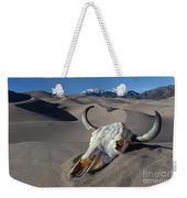 Skull At The Great Sand Dunes Weekender Tote Bag