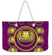 Skull Hands In A Flower Scenery Popart Weekender Tote Bag