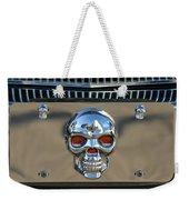 Skull License Plate Weekender Tote Bag