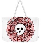 Skull Mandala Pink Weekender Tote Bag