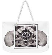 Skull Mandala Series Nr 1 Weekender Tote Bag by Deadcharming Art