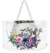 Skull Queen With Flowers Weekender Tote Bag