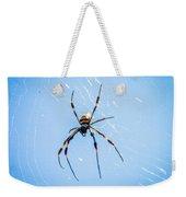 Sky Blue Web Weekender Tote Bag
