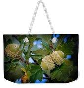 Sky Lit Oak Acorns Weekender Tote Bag