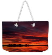 Sky On Fire Weekender Tote Bag