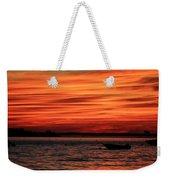 Sky Ripple Sunset Weekender Tote Bag