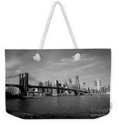 Skyline And The Brooklyn Bridge Weekender Tote Bag