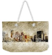 skyline of Denver in modern and abstract vintage-look Weekender Tote Bag