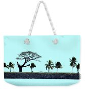 Skyline On Blue Weekender Tote Bag