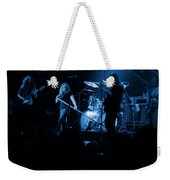 Skynyrd Sf 1975 #10 Crop 2 Enhanced In Blue Weekender Tote Bag