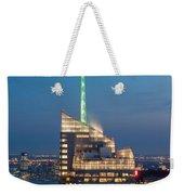 Skyscraper Lit Up At Night, One World Weekender Tote Bag
