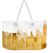 Skyscrapers - Panorama Of Modern Skyscraper Town Weekender Tote Bag