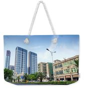 Skyscrapers And Road In Downtown Xiamen City China Weekender Tote Bag