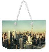 Skyscrapers Of Dubai At Sunset Weekender Tote Bag