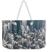 Skyscrapers View From Above Building 83641 3840x1200 Weekender Tote Bag