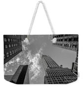 Skytops Manhattan Black And White Weekender Tote Bag