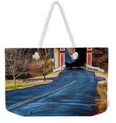 Slate Covered Bridge Weekender Tote Bag